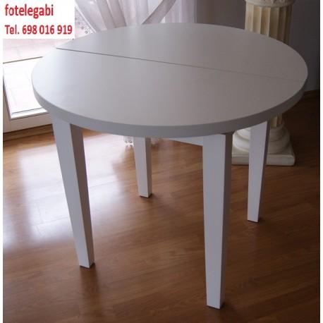 Stół nowoczesny okragły biały fi 100
