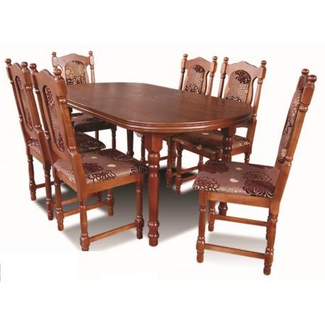 Zestaw stół i 6 krzeseł pokojowy