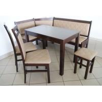 Zestaw narożnik kuchenny stół krzesła taboret