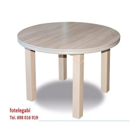 Stół okrągły fi 90 + wkładka dąb sonoma