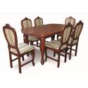 Zestaw pokojowy stół + 6 krzeseł LUDWIK