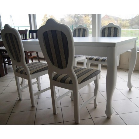Komplet mebli stół + 4 krzesła ludwik
