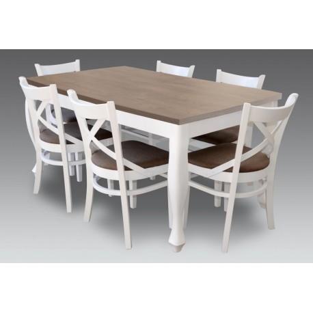 Komplet mebli stół ludwik+6 krzeseł