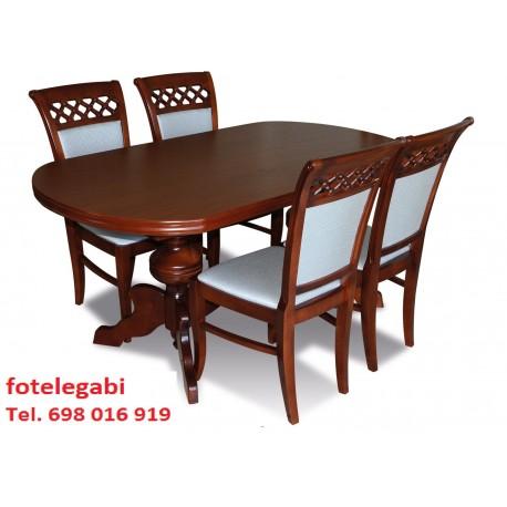Komplet Mebli Salon Stół 4 Krzesła Stylowe Fotelespa
