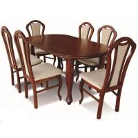Komplet stołowy stół + 6 krzeseł Ludwik