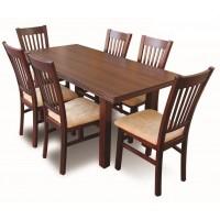 Zestaw stół prostokąt + 6 krzeseł salon z8