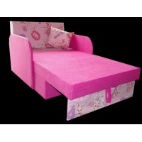 Tapczanik kukuś dziecięcy dla dziewczynki literki, różowy