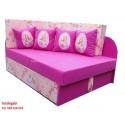 Tapczanik kubuś Barbi 4 poduszki dla dziewczynki