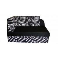 Tapczanik młodzieżowy dziecięcy Zebra, narożnik