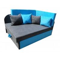 Tapczanik dziecięcy sofka narożnik + 4 poduszki