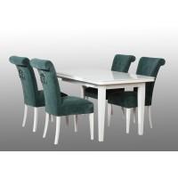 Zestaw pokojowy do salonu stół i 4 krzesła ludwik z kołatką