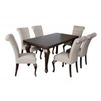 Zestaw stól i krzesła ludwik do salonu LARA