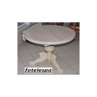 Stół okrągły 100cm + wkładka sonoma