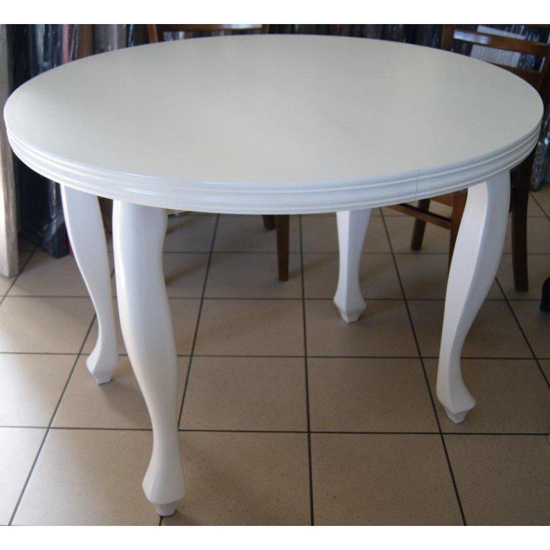 Bardzo dobra Stół Ludwik okrągły biały EW83
